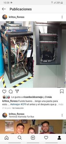 instalación de puntos de red