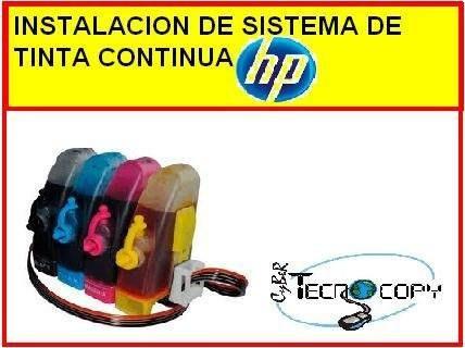 instalacion de sistema de tinta continua hp en 1 hora