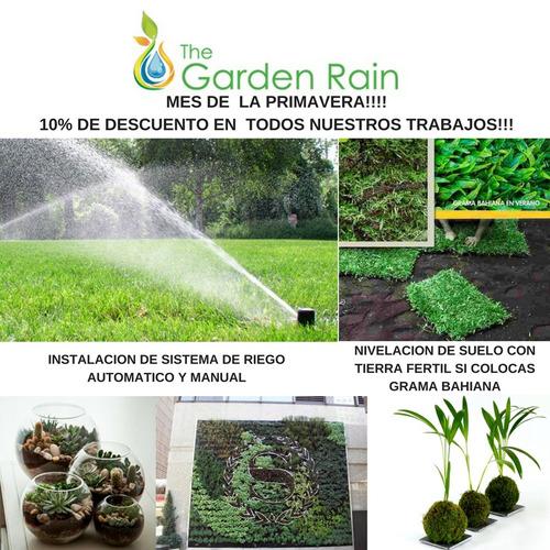 instalación de sistemas  de riego -jardines verticales