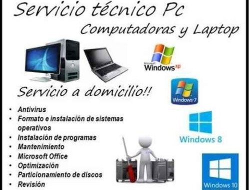 instalacion de software mantenimiento, pc, laptop