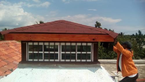 instalacion de techo en madera