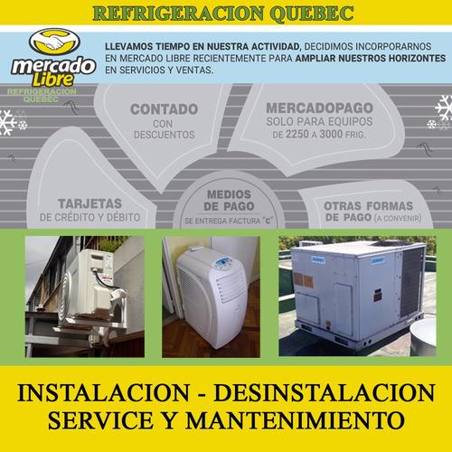 instalacion - desinstalacion split - carga gas - matriculado