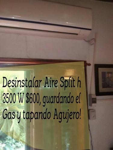 instalación desinstalo carga gas aire split en el día m.pago