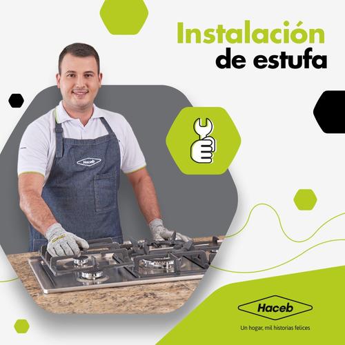 instalación estufas y cubiertas - servicio técnico haceb
