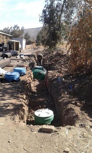 instalación fosas sépticas / drenajes