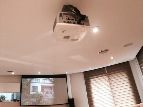 instalación home theater proyector soportes tv led pantalla