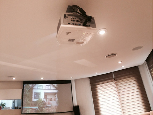 instalación home theater soportes tv led pantalla proyector