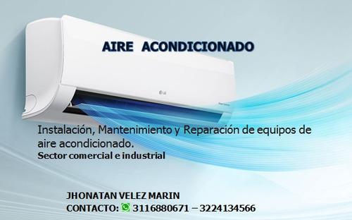 instalacion, mantenimiento y reparacion de aires