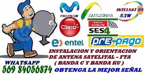 instalación orientación antena satelital-kit prepago directv
