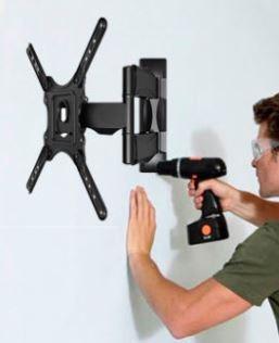 instalacion rack tv espejos cuadros muebles melamina led