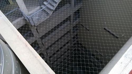 instalación red de balcón, maya de protección gatos