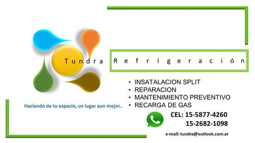 instalación reparacion aire acondicionado split carga de gas