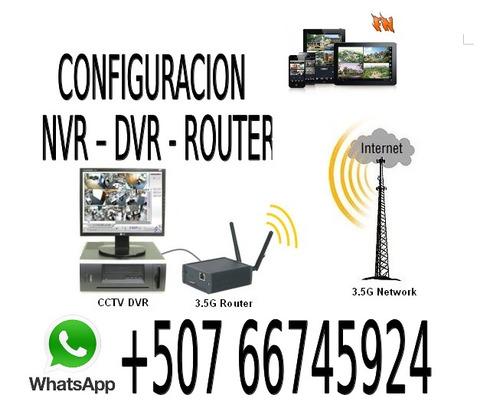 instalacion reparacion configuracion dvr - nvr - router - an