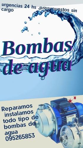 instalación reparación de bombas de agua servicio domicilio