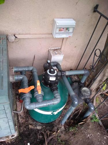 instalación reparación de bombas y filtros para piscinas