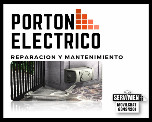 instalación / reparación / mant de portones eléctricos