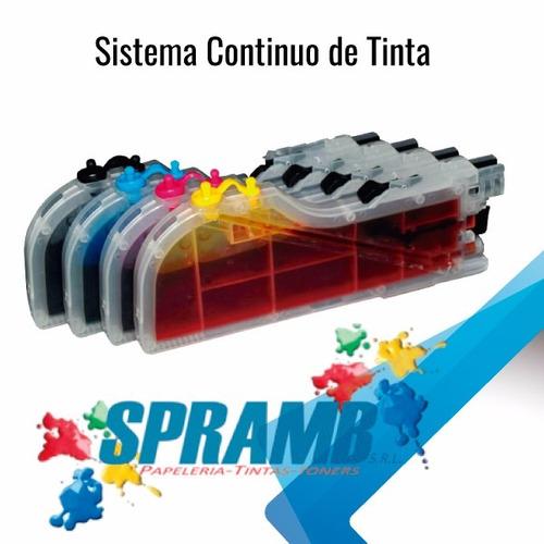 instalación sistema de tintas continuo - venta de impresoras