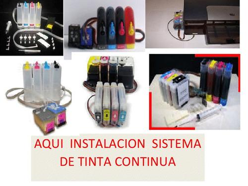 instalación sistema de tintas full. no incluye impresora