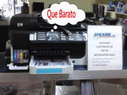 instalación sistema tintas impresoras hp oficejet pro l7580