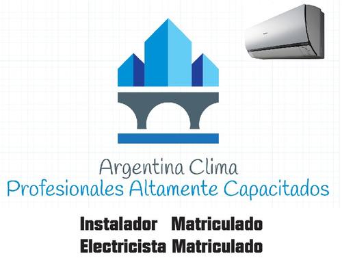 instalacion split aire acondicionado tecnico matriculado