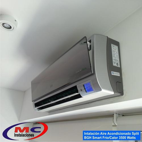 instalacion split c/materiales matriculado mc instalaciones