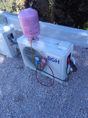 instalacion split,carga de gas. reparacion de lavarropa