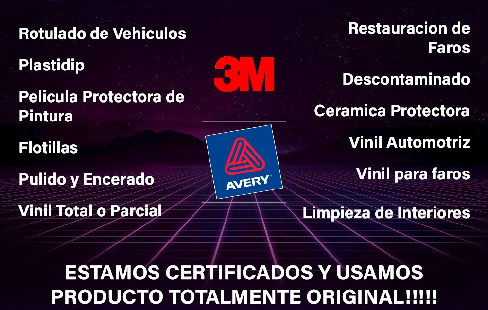 instalación vinil automotriz wrap certificados averyhexis3m