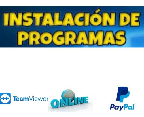 instalación y activación de programas online