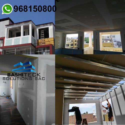 instalación y construcción de cuartos de drywall. cielo raso