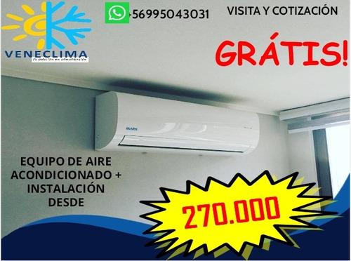 instalación y mantencion de aires acondicionados
