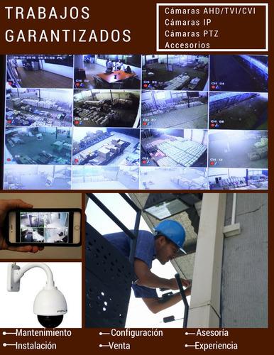 instalación y mantenimiento de cámaras de seguridad y cercos