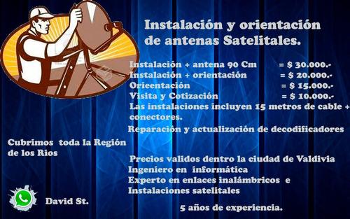 instalación y orientación de antenas satelitales, valdivia