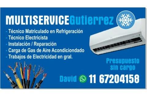 instalacion y reparacion de aires acondicionados