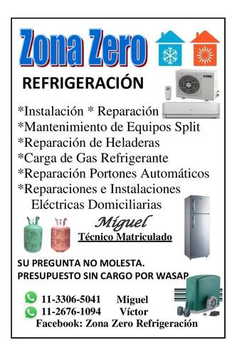 instalación y reparación de split f/c (técnico matriculado)