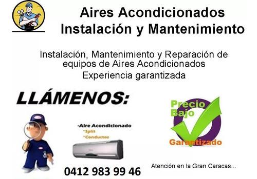 instalación y servicio tecnico en aire acondicionado