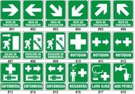 instalaciones de bombero, señales industriales, avisos.  etc