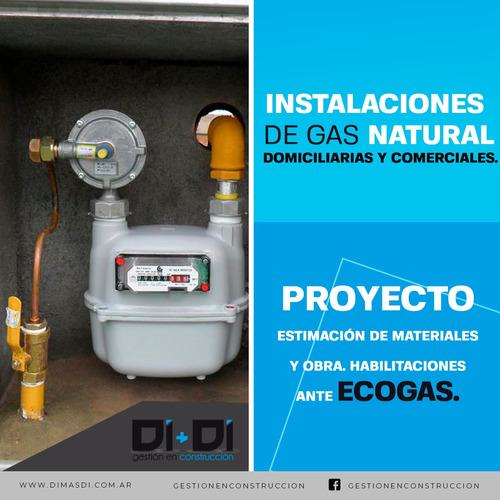 instalaciones de gas natural / envasado - hogar y comercial