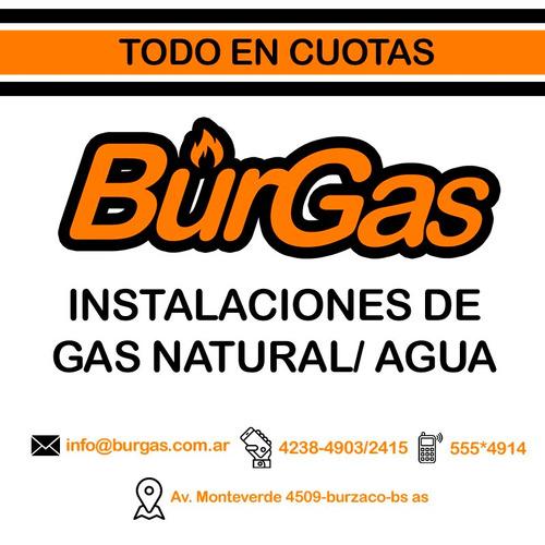 instalaciones de gas natural redes e internas en cuotas!!!!!