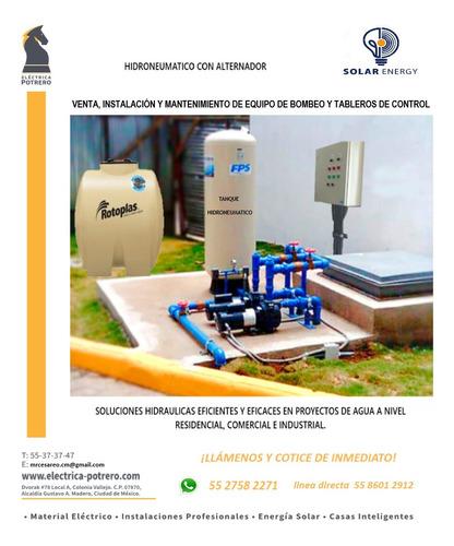 instalaciones electricas, automatización e hidroneumaticos