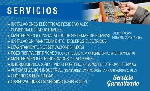 instalaciones electricas domiciliaria y comercial