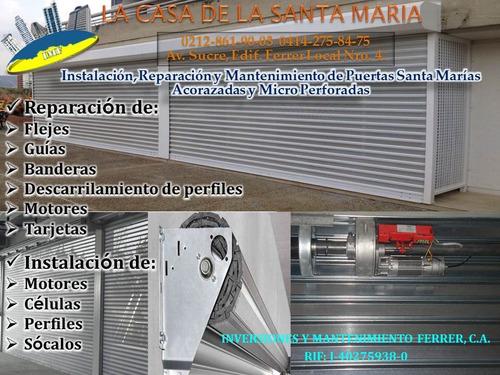 instalación,reparación.mantenimiento de puertas santa marias