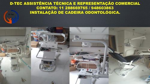 instalação de cadeiras odontológicas.