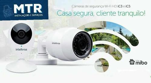 instalação de câmera e alarme de segurança