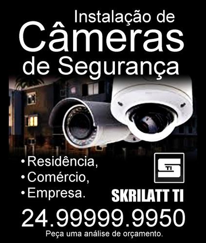 instalação de câmeras de segurança em resende rj e região.