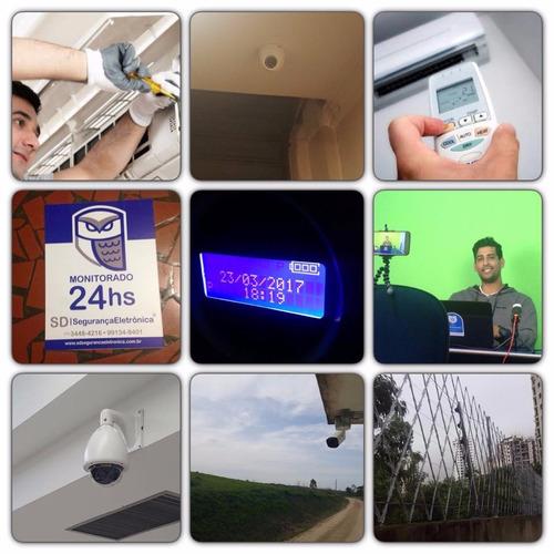 instalação de câmeras de segurança, monitoramento de alarme
