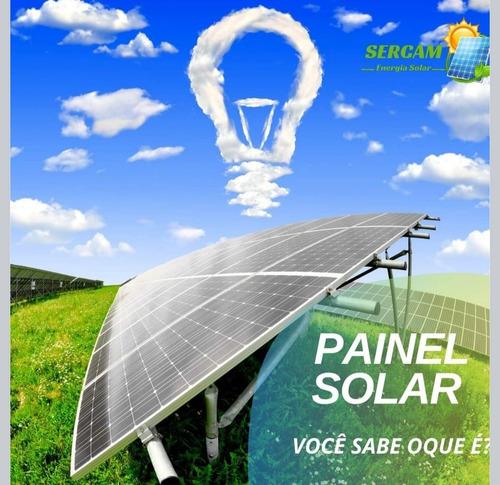 instalação de painel de energia solar