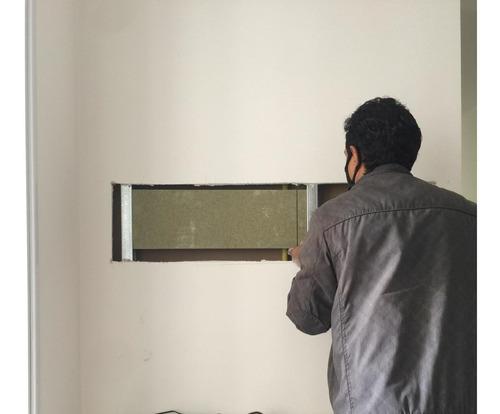 instalação de reforço para suporte de tv em drywall