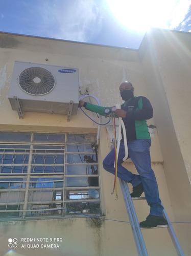 instalação e desinstalação de ar condicionado.