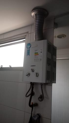 instalação e manutenção de aquecedor de água a gás