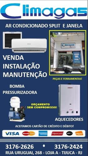 instalação e manutenção de ar condicionado e aquecedor